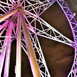 'Surreal Wheel' All rights reserved by Carey Carter (f.) Photography Melbourne 2014 by Carey Carter - City,  Street & Park  Amusement Parks