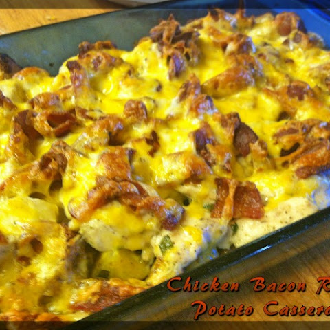 Chicken Bacon Ranch Potato Casserole