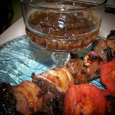 Fig-Balsamic Glazed Beef Kabobs