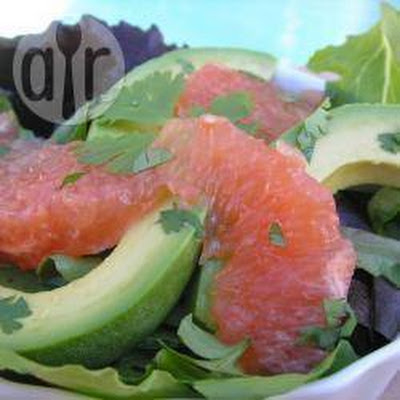 Salade Met Grapefruit And Avocado