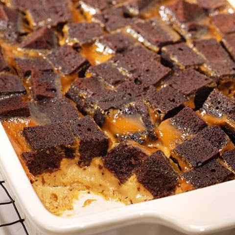 Chocolate Caramel Bread Pudding