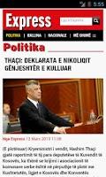 Screenshot of Gazeta Express