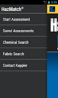 Screenshot of HazMatch Chemical Suit Guide