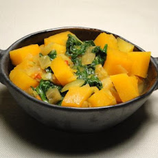 Pumpkin and Spinach Curry