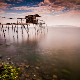 Fish Trap by Rizvan Talha Kaynak - Buildings & Architecture Other Exteriors ( fish trap, waterscape, d300, long exposure, b+w, nikon, nd1000 )