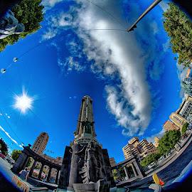 Plaza Espana by Radu Eftimie - City,  Street & Park  Vistas ( tenerife, santa cruz, plaza espana )