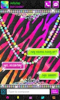 Screenshot of Luxury Theme Rainbow Zebra SMS