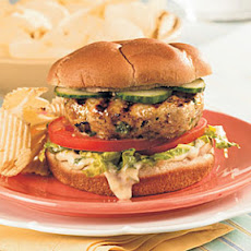 Thai Turkey Burgers with Mango Mayonnaise