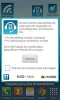 Screenshot of Widget 1820 - Informações