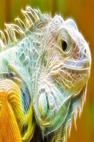 3Dのトカゲ