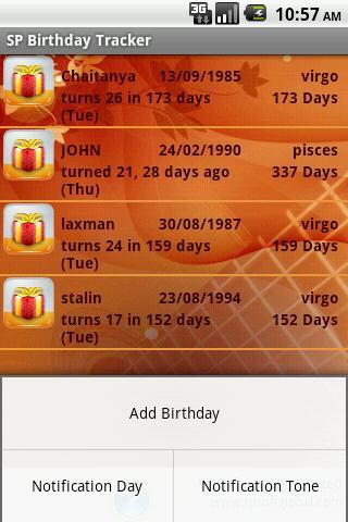 SP Birthday Tracker