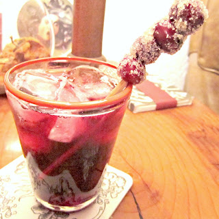 Cranberry Red Wine Spritzers!