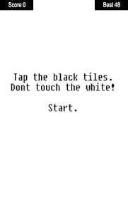 Tap the black tiles - screenshot