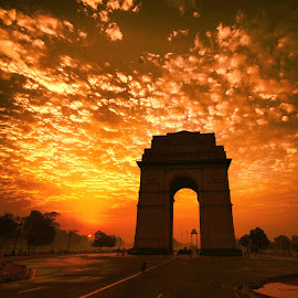 Beautiful sunrise by Rohan Madan - Buildings & Architecture Statues & Monuments ( #monument, #photography #pixoto #life #pic # )