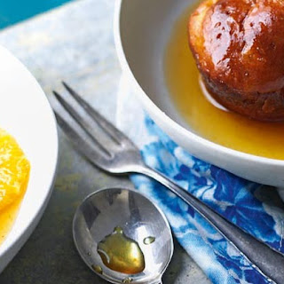 Orange And Ginger Rum Babas With Caramelised Oranges And Ginger