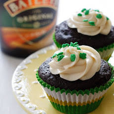 Chocolate Stout Cupcakes with Baileys Cream Cheese Frosting