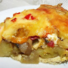 Swiss Potato and Mushroom Pie