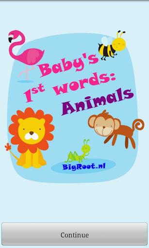 Baby first words: Animals