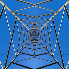 The Power by Bill Peppas - Abstract Patterns ( tower, sky, patterns, power, electricity, high )