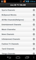 Screenshot of Live India Tv Online