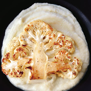 Cauliflower Steaks with Cauliflower Purée
