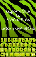 Screenshot of KB SKIN - Green Zebra Hearts
