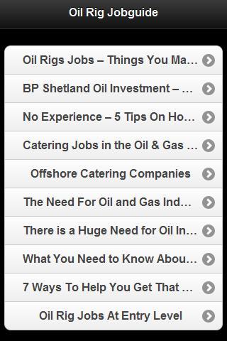Oil Rig Job Guide