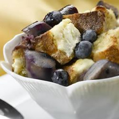 Wild Blueberry Chicken Sausage Breakfast Pudding