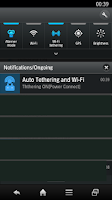 Screenshot of Automatic tethering wireless
