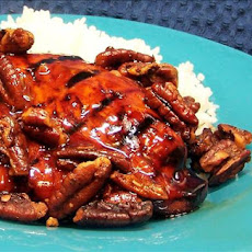Maple & Orange Chicken With Peppered Pecans