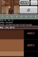 Screenshot of Color detector for RAL PANTONE