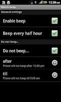 Screenshot of Watch beep