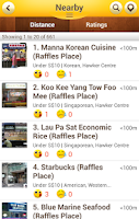 Screenshot of OpenRice Singapore