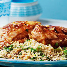 BBQ chermoula chicken and nutty couscous