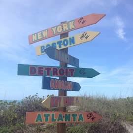 Where to? by Michele Williams - Artistic Objects Signs