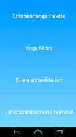 Screenshot of Yoga Nidra Tiefenentspannung