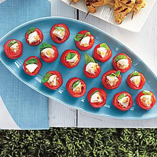 Stuffed Cherry Tomatoes Mozzarella Cheese Recipes