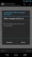 Screenshot of VOB, BauR, HOAI