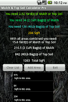Screenshot of Mulch Calculator Pro