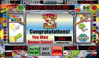 Screenshot of Mega Space Slot Machine