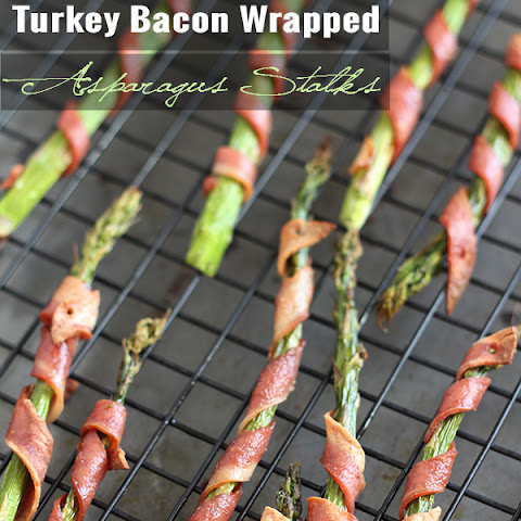 Turkey Bacon Wrapped Asparagus Stalks