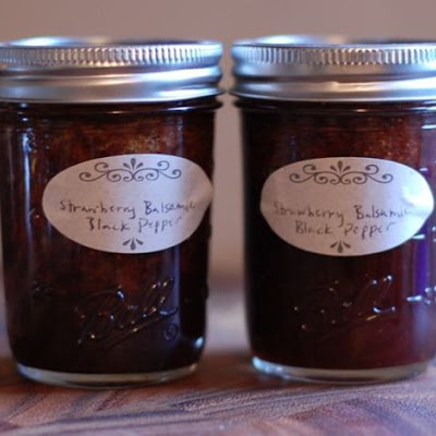 Strawberry Balsamic Black Pepper Jam