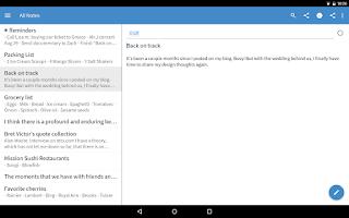 Screenshot of Simplenote