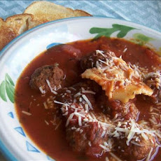 Meatball and Ravioli Soup