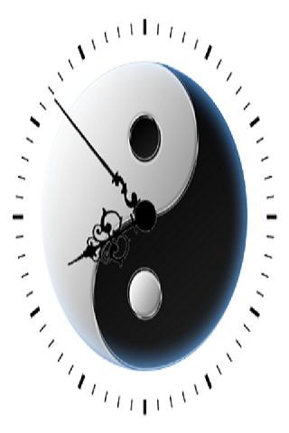 Yin Yang Clock Widget