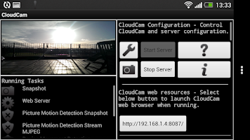Screenshot of Cloud Spy Cam