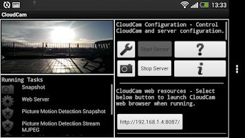 Screenshot of Cloud Spy Cam