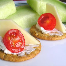 Emily's Cheese and Tomato Cracker Appetizer