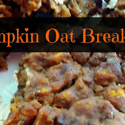 Nutty Pumpkin Oat Breakfast Bars
