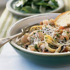 Fettuccine with Shrimp and Portobellos